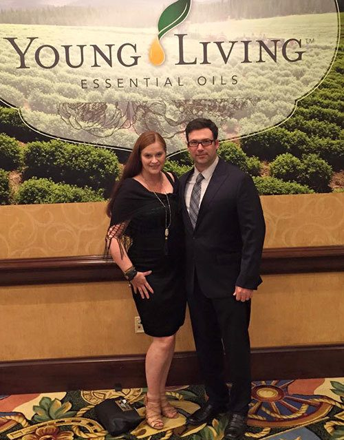 Katja and Matt Presnal at the Young Living Convention in Texas, 2015
