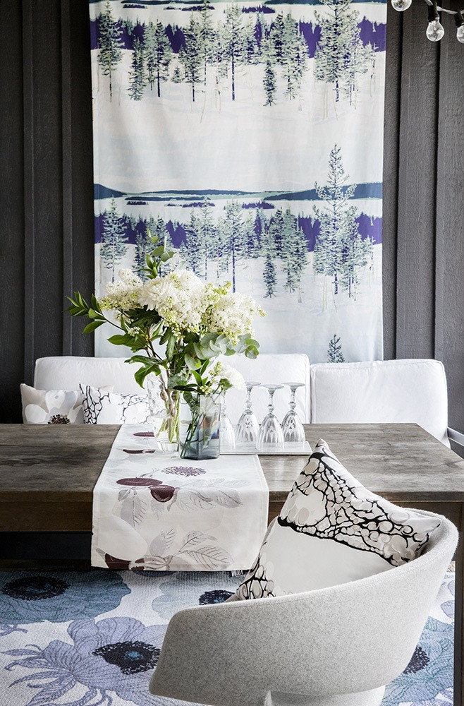 Nature theme continues being trendy for fall and especially for winter 2016. Abstract pictures of nature and scenic nature views are among the most popular trends in home textiles.