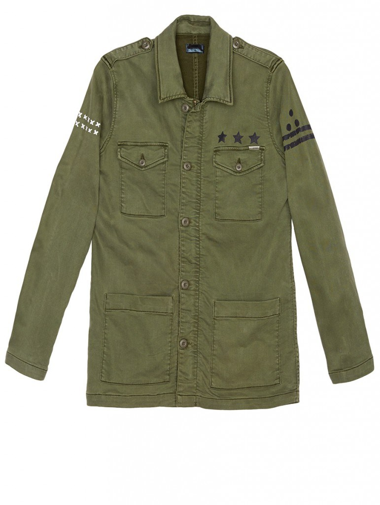 mother military-green cargo jacket