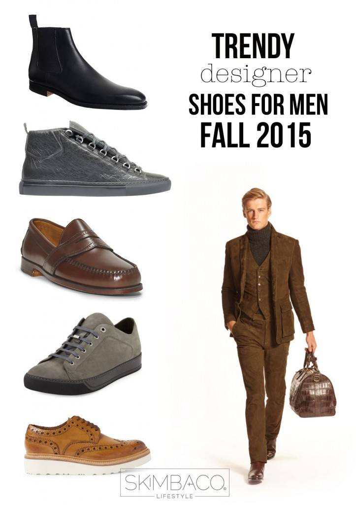 Trendy designer shoes for men for fall 2015