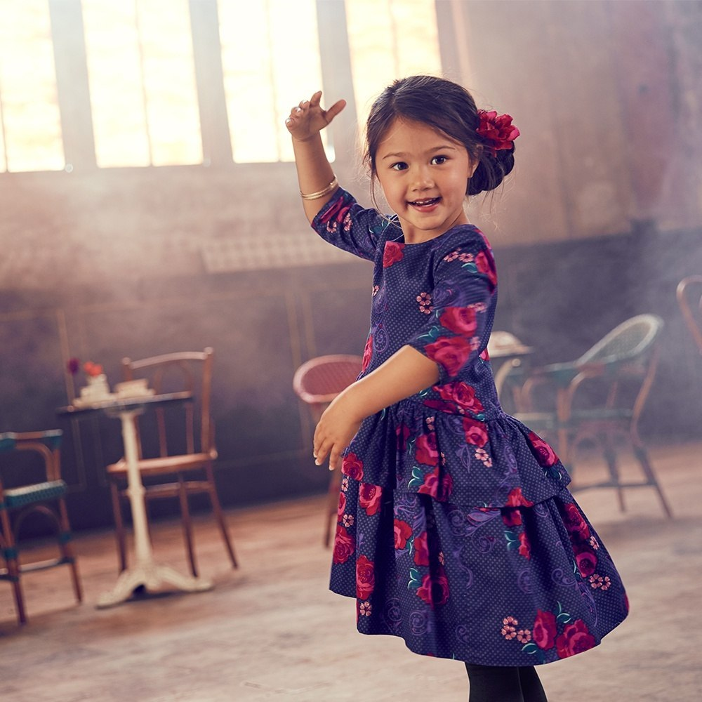 Tea Collection fileteado dress for girls