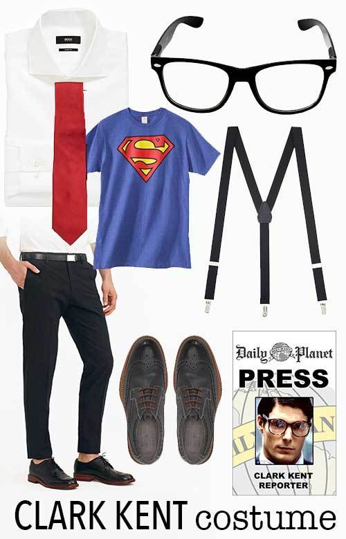picture relating to Lois Lane Press Pass Printable referred to as Previous Moment Partners Halloween Gown Concept: Clark Kent