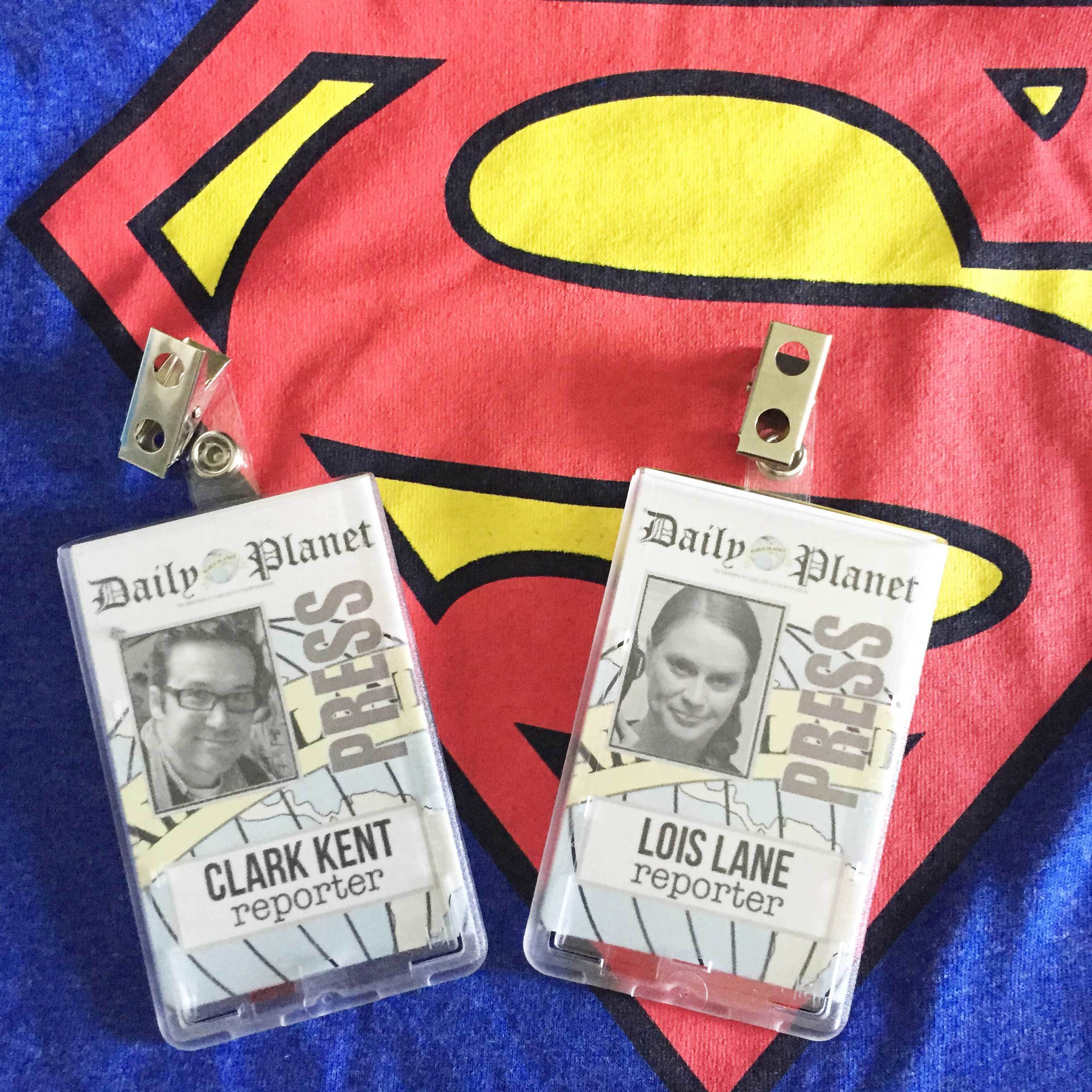 photograph about Lois Lane Press Pass Printable identify Closing Instant Partners Halloween Dress Strategy: Clark Kent
