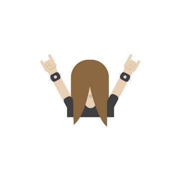 Headbanger emoji
