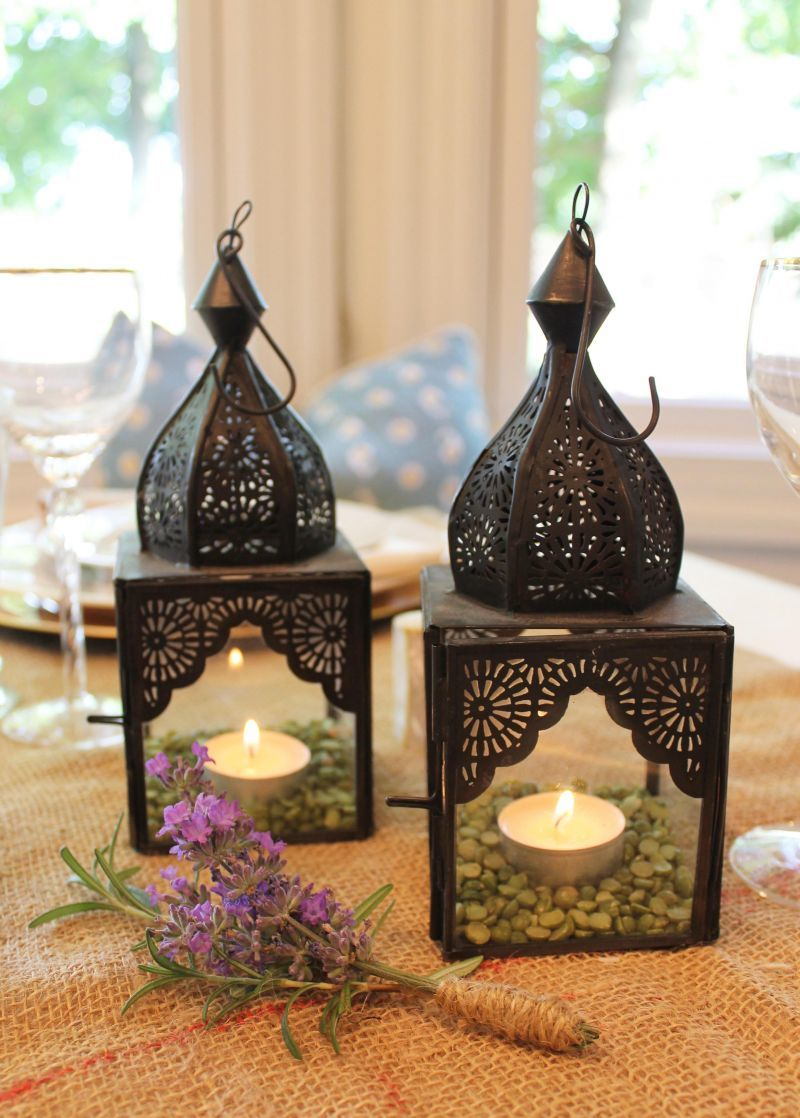 Table Setting Details with Moroccan lanterns