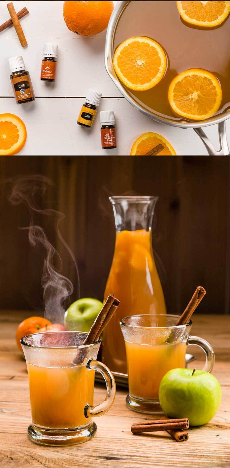 Apple cider recipe with essential oils. Join Young Living and learn more at http://www.enjoylifeoils.com