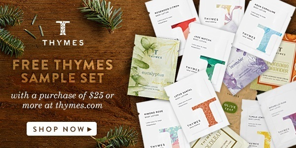 Get a free Thymes sample set now with a $25 purchase! use code TRADITION5