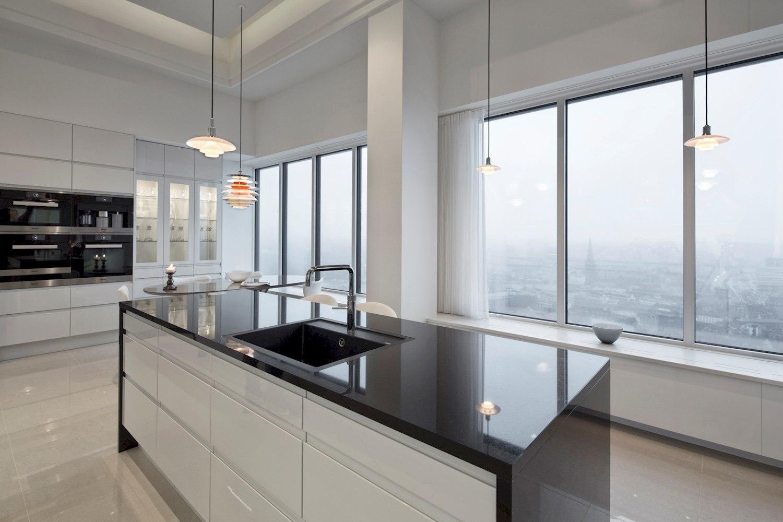 Danish minimal penthouse with modern kitchen