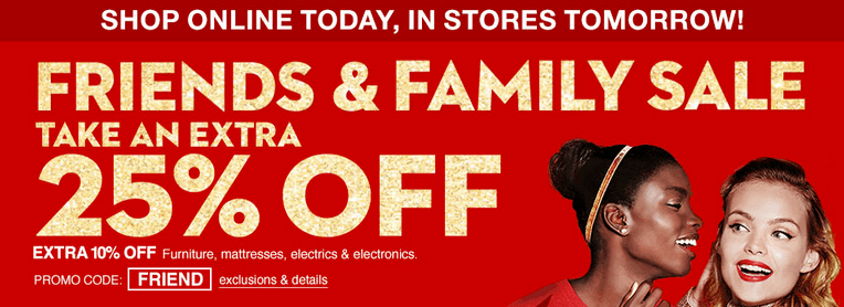 Macy's Friends and Family Sale