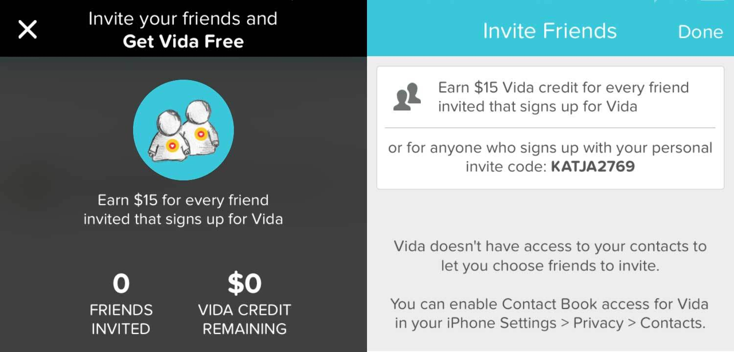 Get Vida free -- or get this credit right now