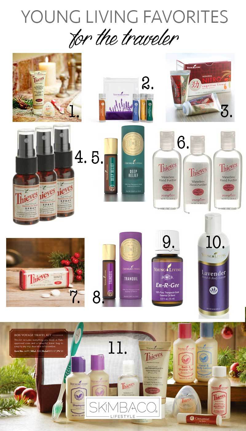 Young Living products for travelers
