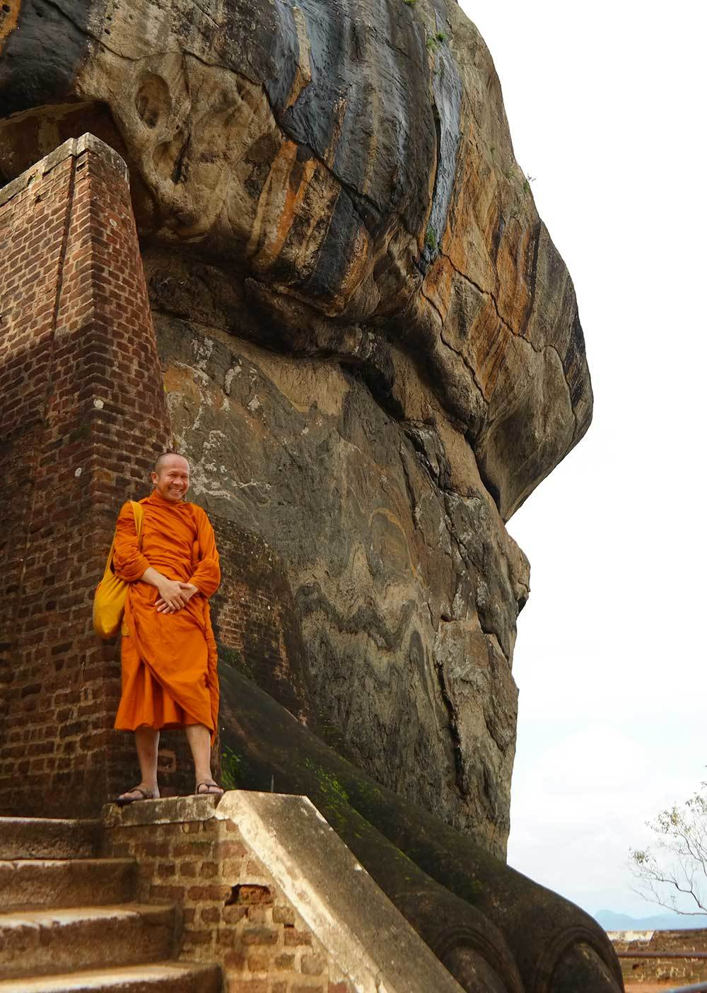 Monk in Lion Rock