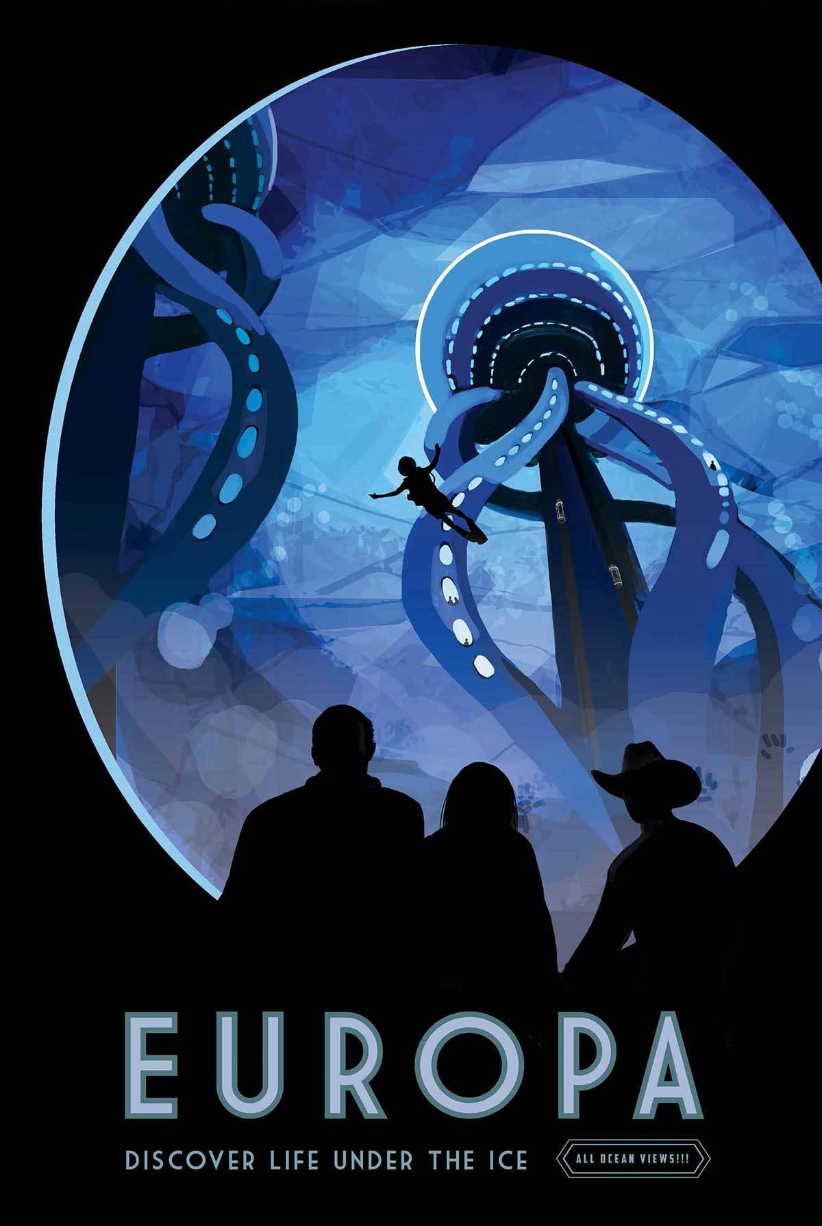 europa poster by NASA