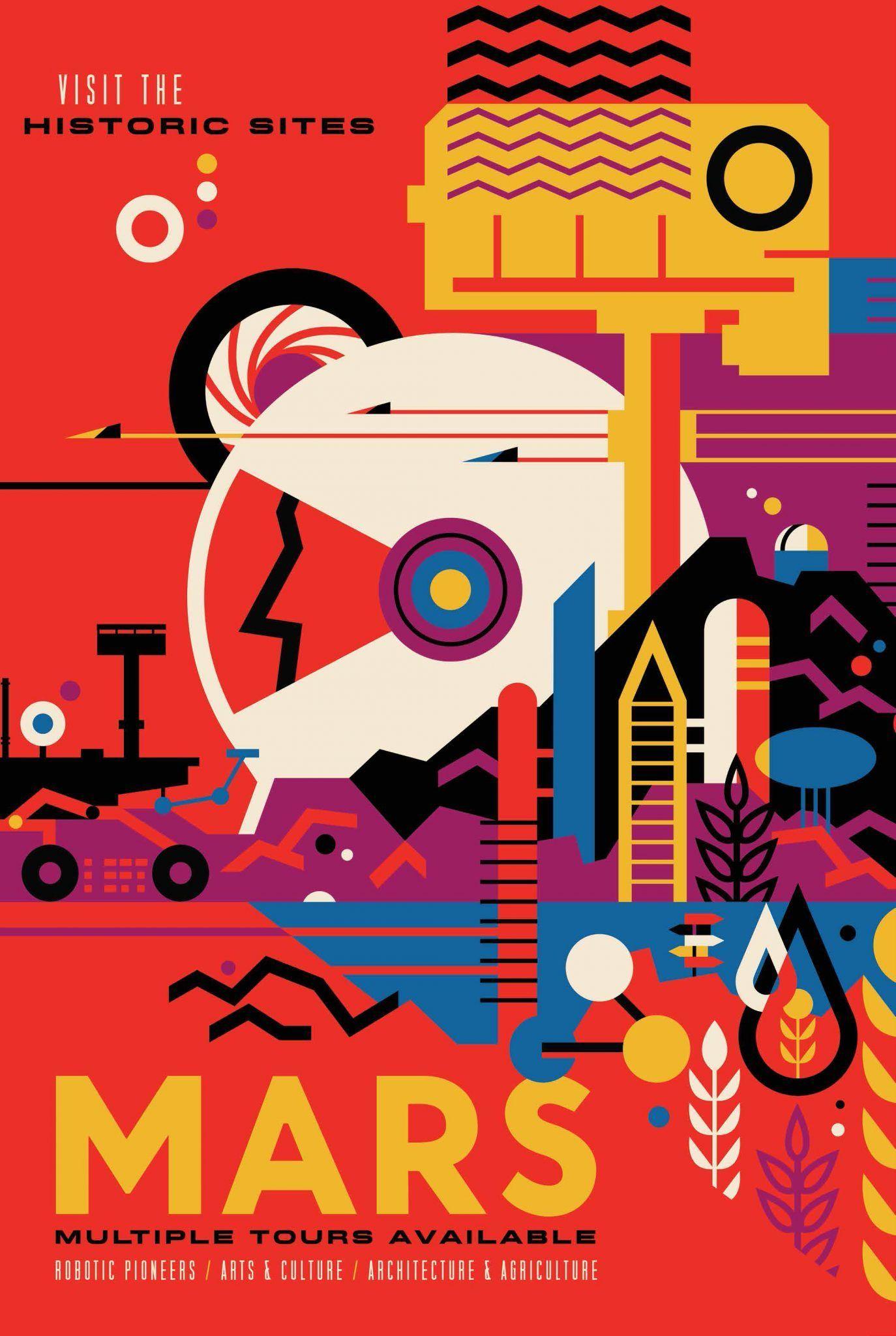 mars poster by NASA