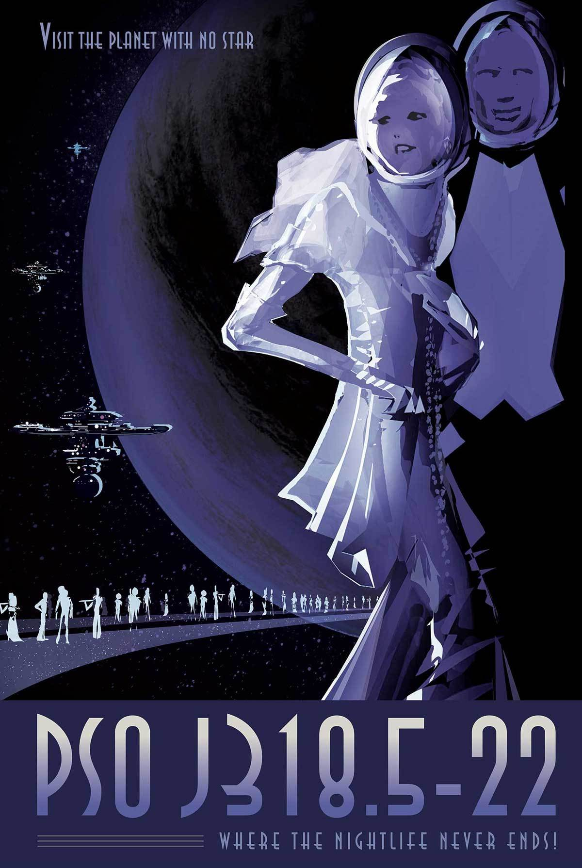 nightlife poster by NASA