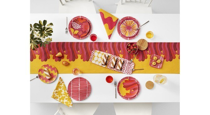 marimekko for target table setting