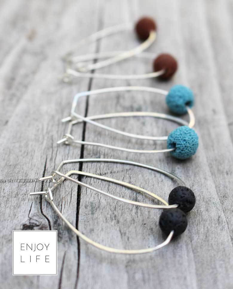 diffuser earrings with lava bead