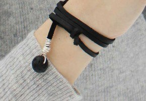 essential oil diffuse leather wrap bracelet