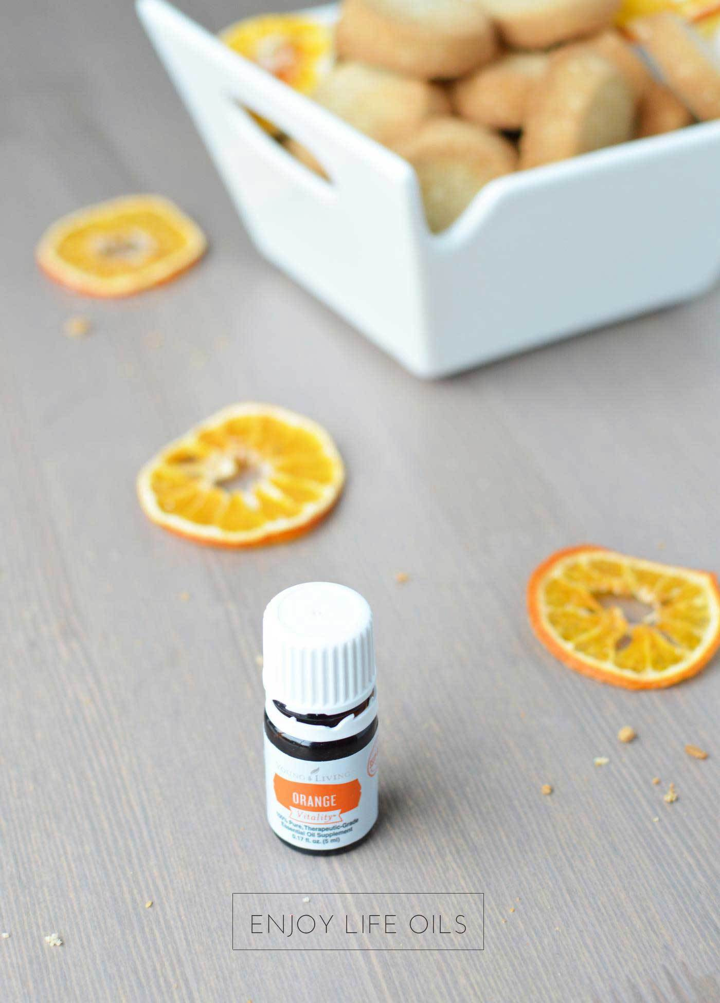cooking with essential oils. Make shortbread with Orange Vitality from Young Living