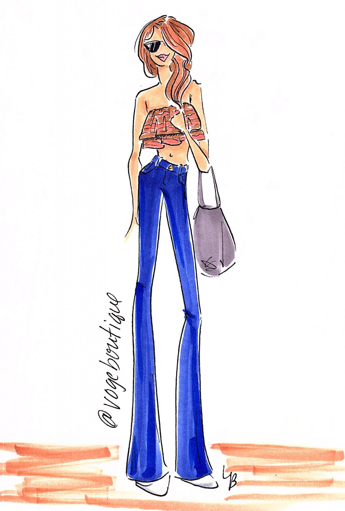 @Vogeboutique @lbprojectprint San Antonio Fashion Sketch