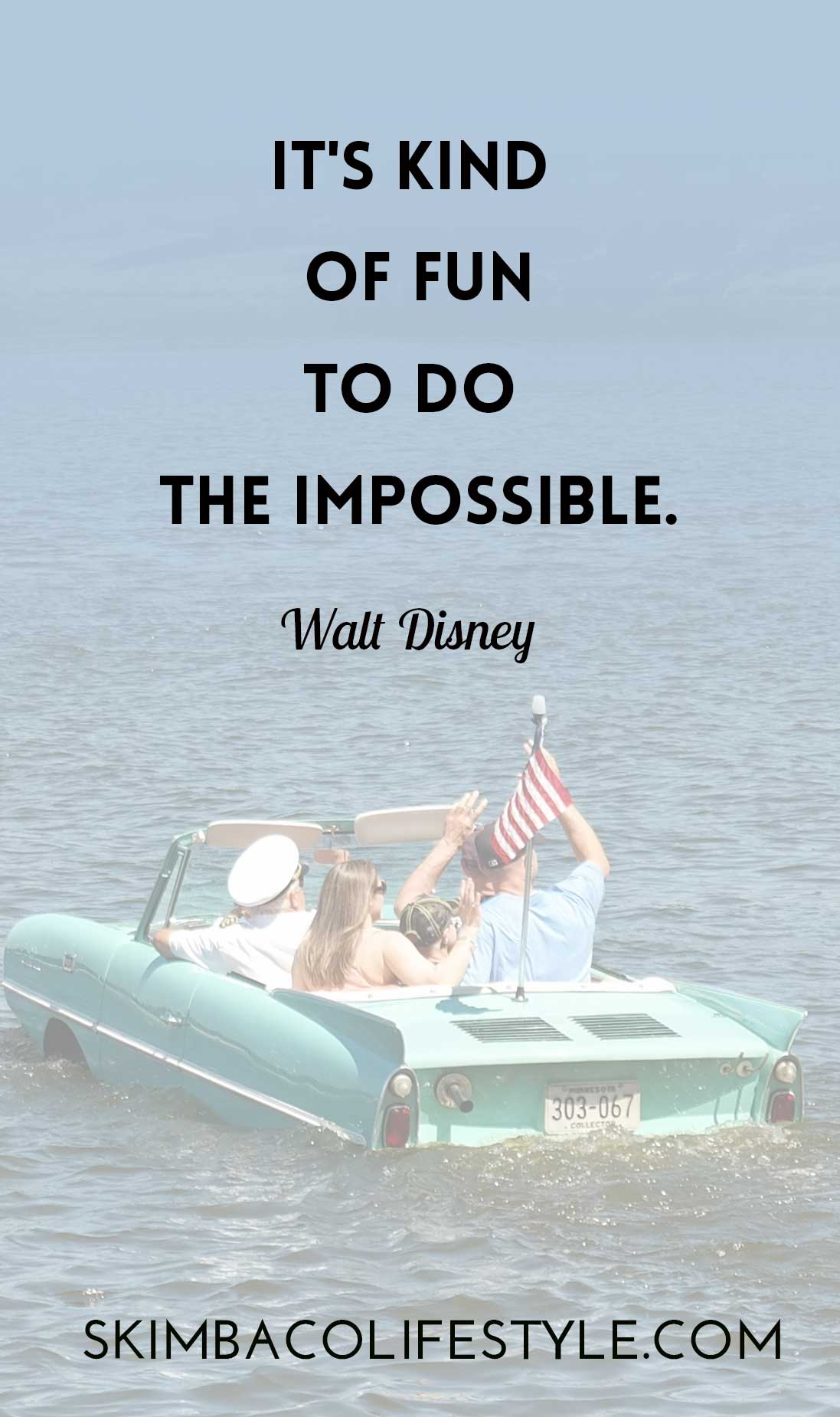 It's kind of fun to do the impossible. Walt Disney quote via @skimbaco