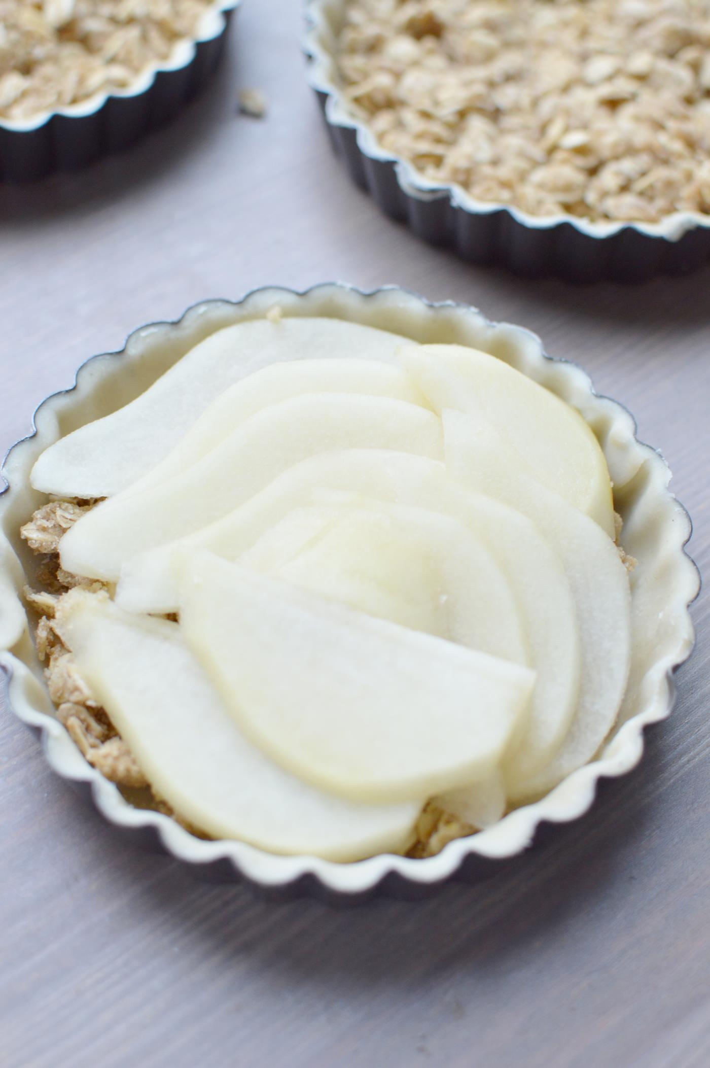 Recipe with Young Living lavender vitality essentia oil: lavender pear tarts