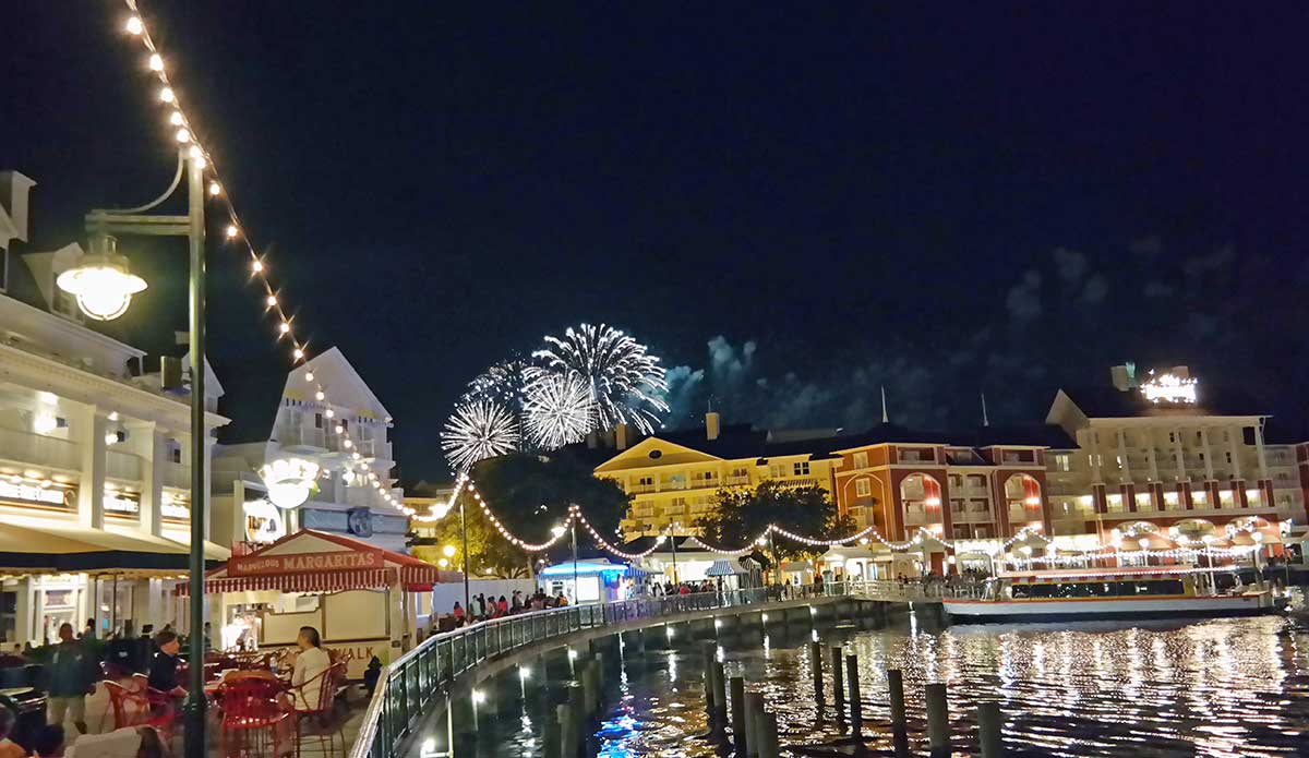Disney Boardwalk Fireworks