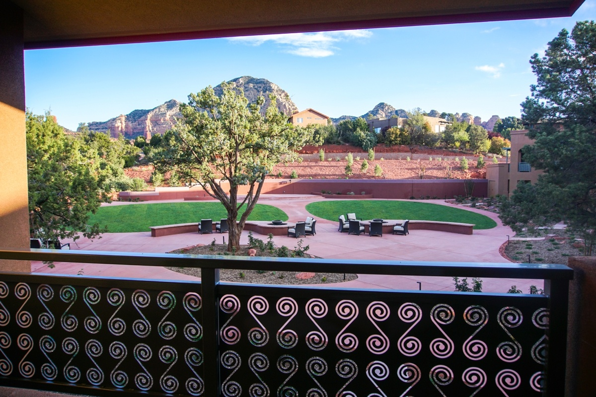 Sedona Rouge Hotel Room View