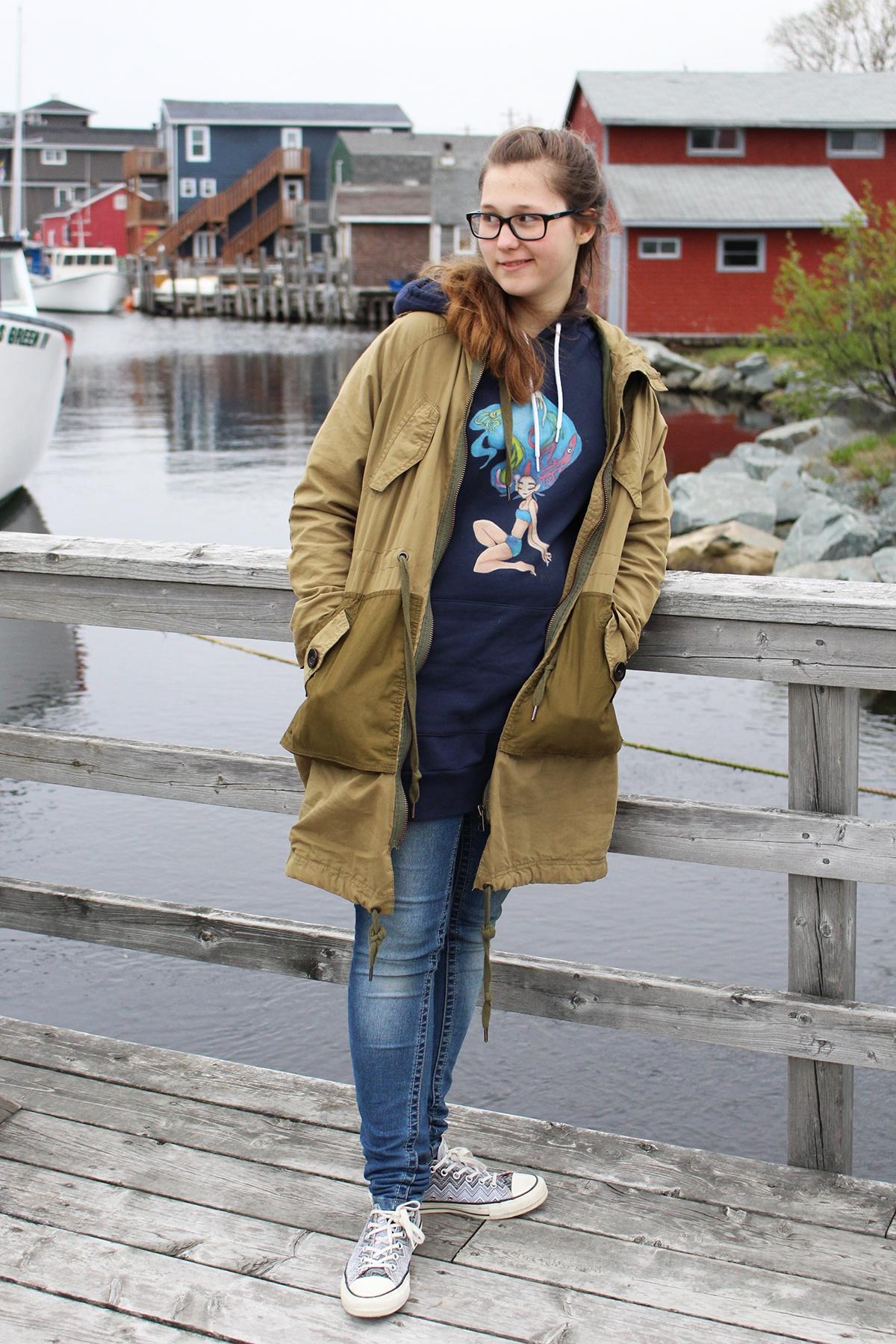 Aquagirl hoodie gress from Gabypie.com