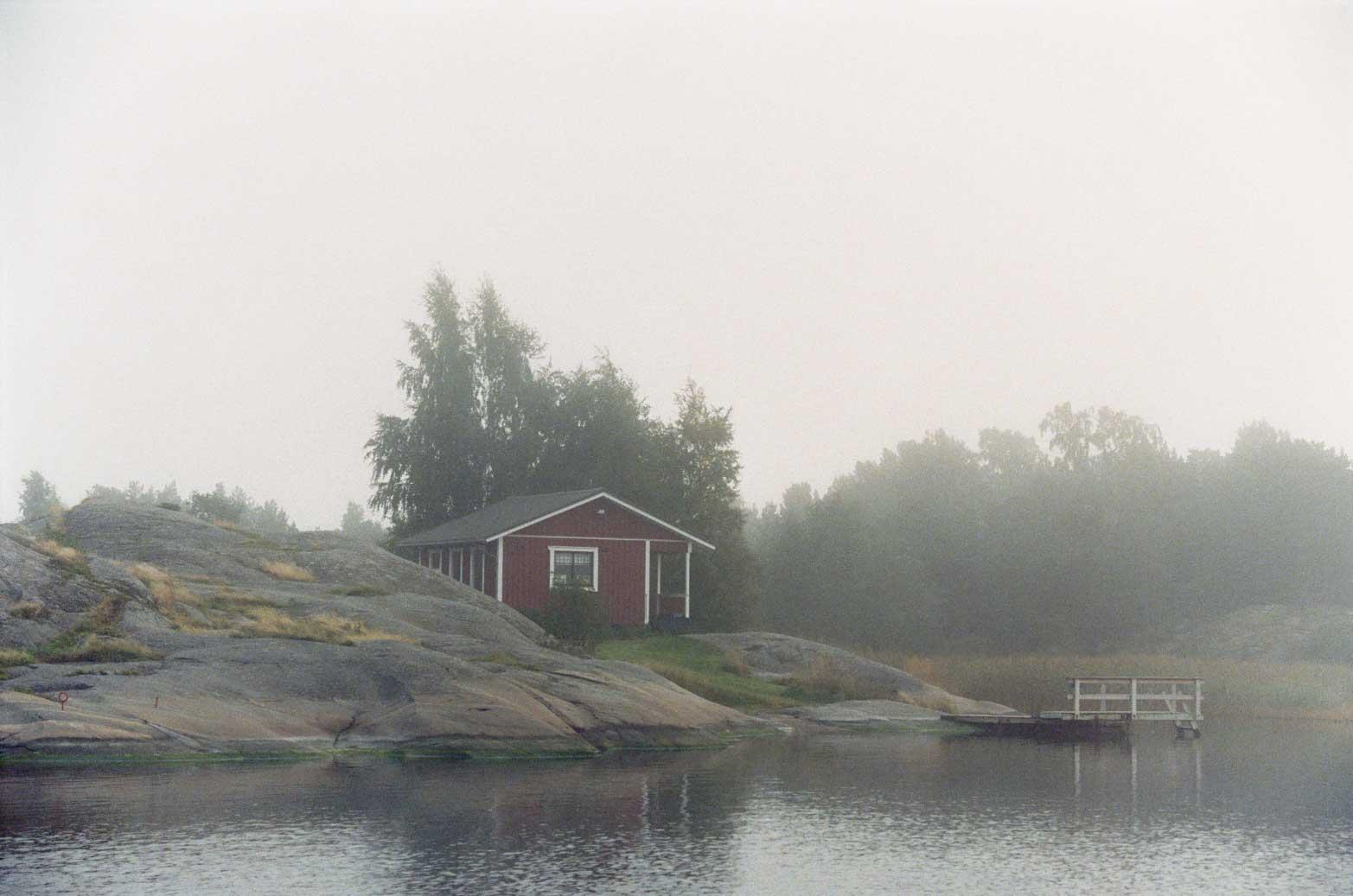 Finland in fog