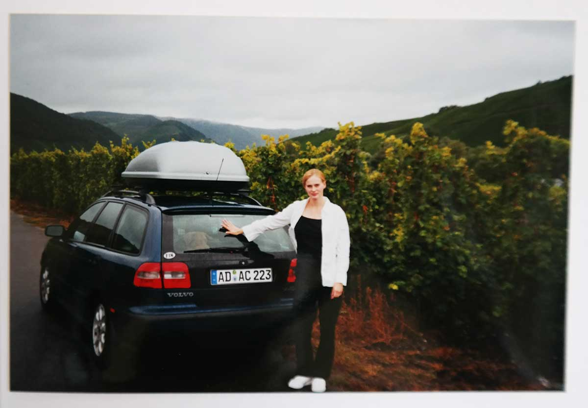 Katja and her first Volvo