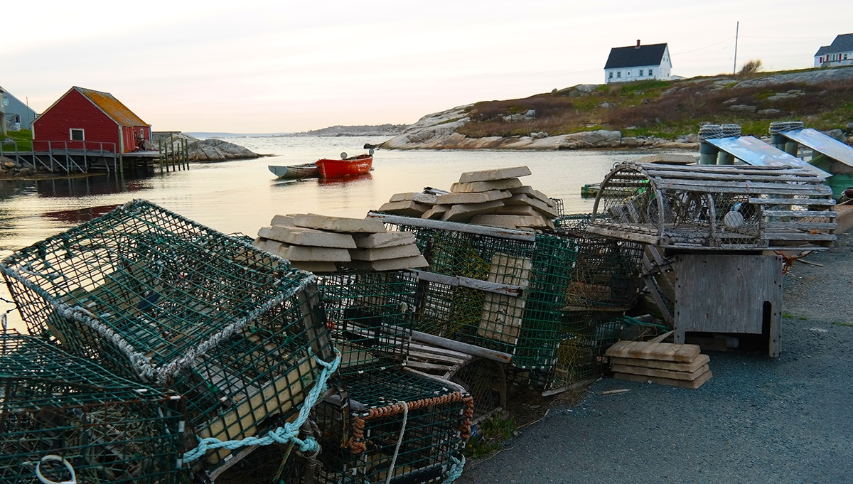 Peggys Cove lobster traps