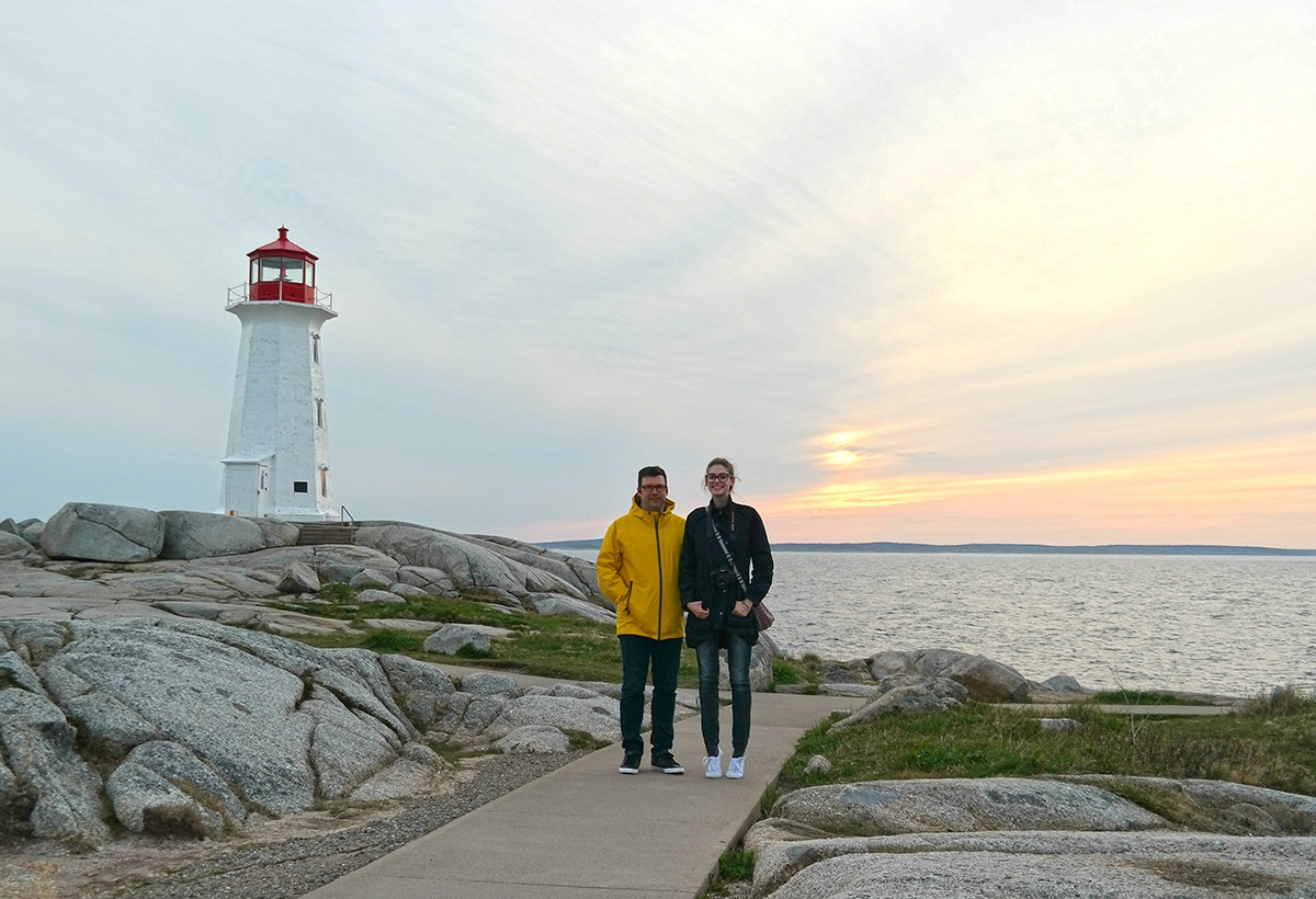Peggy's Cove sunset with dad