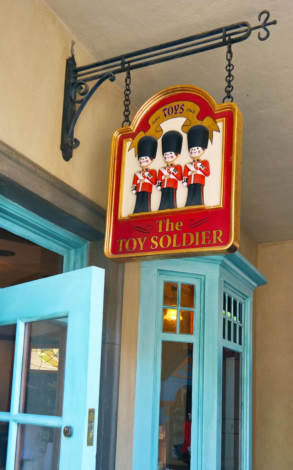 Toy Soldier shop at Epcot's world showcase UK