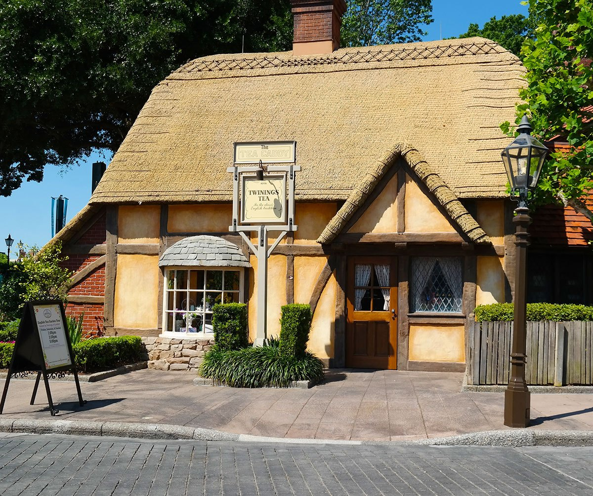 Twinnings Tea House in Epcot's world showcase UK