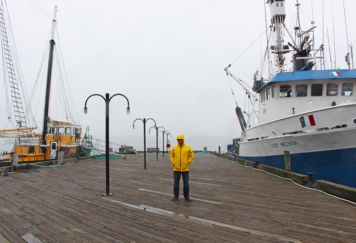Urban Fisherman in Halifax, Nova Scotia.