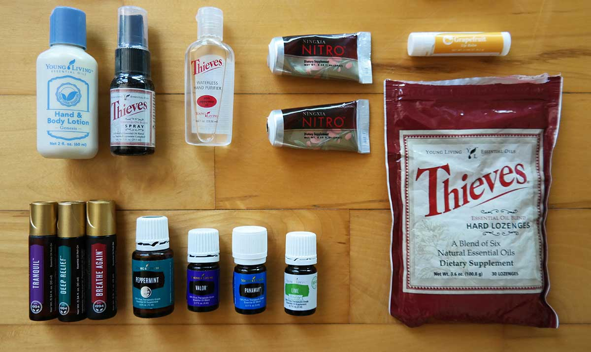 Young Living prodycts to travel with via @skimbaco @enjoylifeoils
