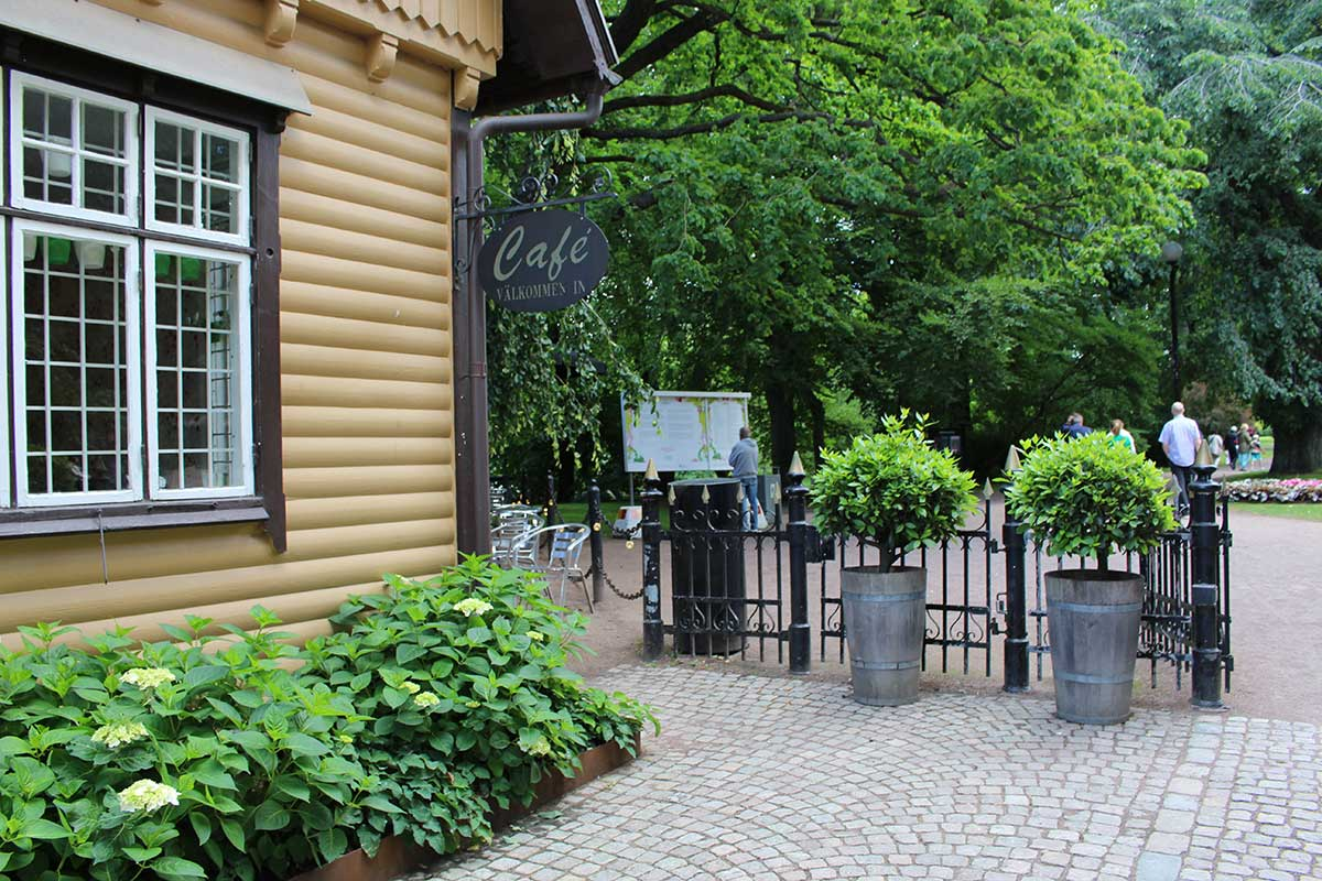 Cafe in garden society gothenburg